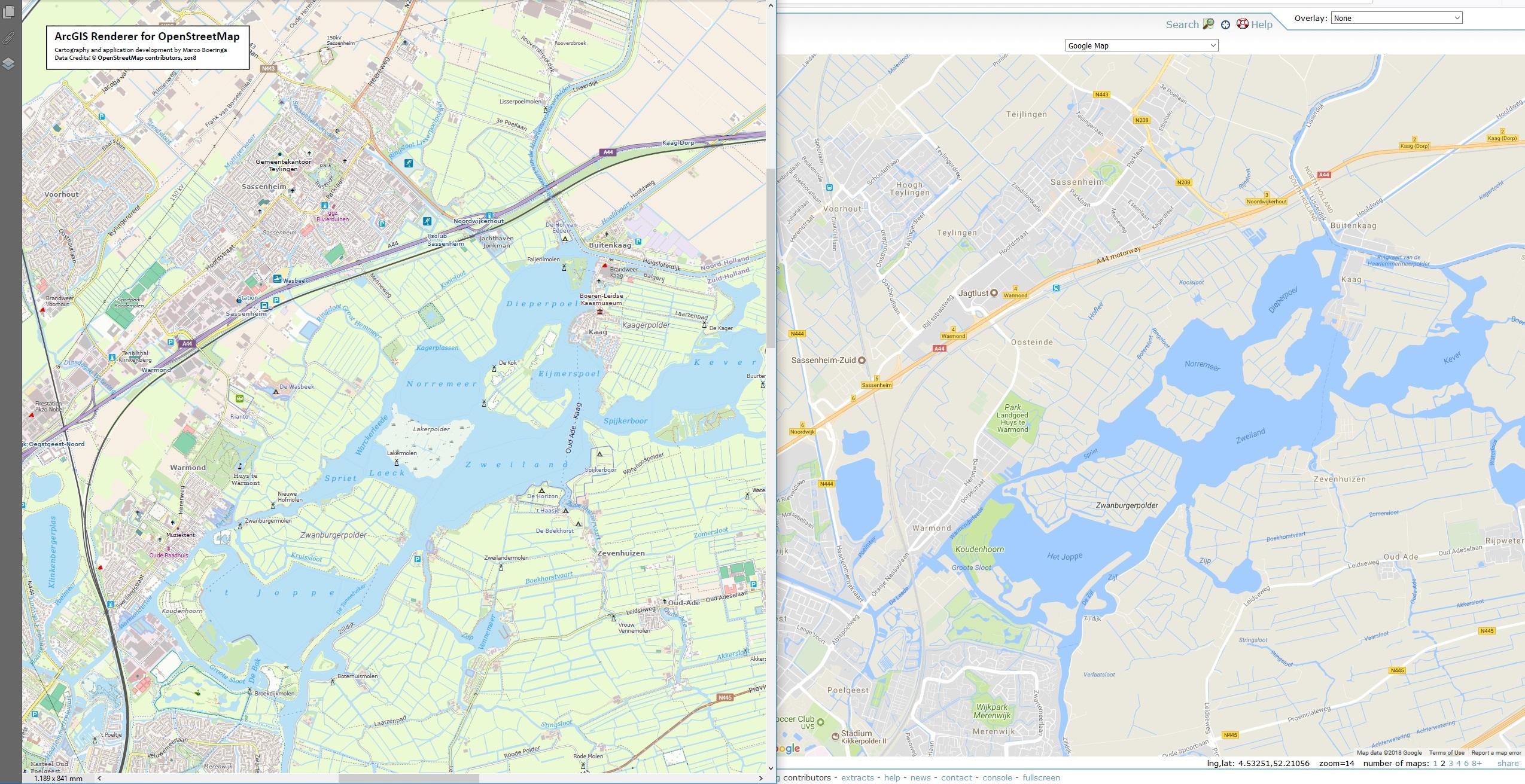 ArcGIS Renderer for OpenStreetMap - The_Netherlands - Kagerplassen